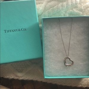 Authentic Tiffany & Co heart necklace